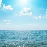 Sunny day on seascape Royalty Free Stock Photos