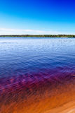 Sunny day at Seitenjärvi lake in Finland Royalty Free Stock Photo