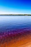 Sunny day at Seitenjärvi lake in Finland Royalty Free Stock Photo