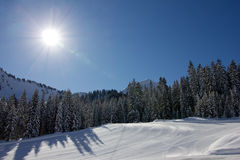 A sunny Day for Skiing Royalty Free Stock Image