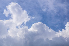 On a sunny day, the sky and clouds. Stock Photo