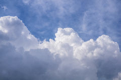 On a sunny day, the sky and clouds. Royalty Free Stock Photo