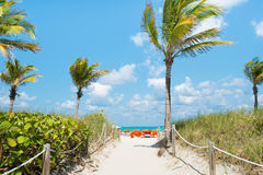 Sunny day in South Beach, Miami Royalty Free Stock Photography