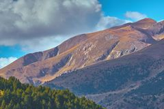 Sunny day on the Spanish mountain , Pyrenees.  stock image