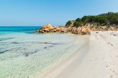 Shallow water in Spiaggia del Principe. Sunny day in Spiaggia del Principe, Costa Smeralda royalty free stock image