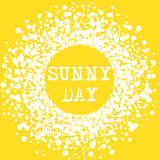 Sunny Day Summer Typography Sign royalty illustrazione gratis
