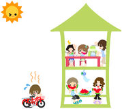 A Sunny day of summer vacation Stock Images