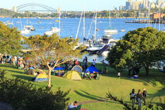 Sydney harbor event Royalty Free Stock Photos