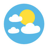 Sunny day symbol. Design of sunny day symbol Royalty Free Stock Photos