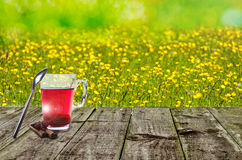 Sunny Day And Tea Royalty Free Stock Photos