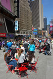 Sunny Day in Times Square Stock Photos