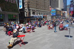 Sunny Day in Times Square Royalty Free Stock Photo