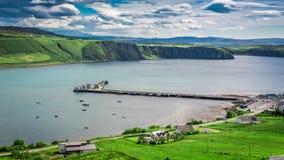 Sunny day in the Uig town, Skye Island, Scotland Stock Image