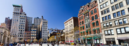 Sunny Day in Union Square Park Panoramic Stock Photography