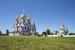 Sunny day in Valday Iversky Svyatoshenskom monastery Royalty Free Stock Photos