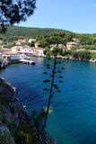 Sunny day in Veli Losinj bay in Croatia Royalty Free Stock Photography