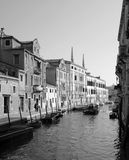 Sunny day in Venice. Sunny day in Venice, Italy. Black and white picture Stock Photos