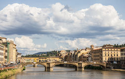 Sunny day. A view over Arno river in Florence stock images