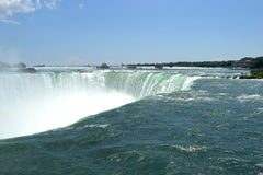 Sunny day view from splendid Niagara Fall Stock Images