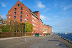 Sunny day at the waterfront of Copenhagen. Denmark Royalty Free Stock Image