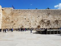 Sunny day in the western wall royalty free stock photo