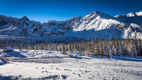 Sunny day in winter mountains Royalty Free Stock Photo