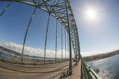 Sunny day at Yaquina Bay Bridge in Newport, Oregon, USA Royalty Free Stock Photos