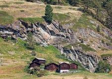Sunny day in Zermatt stock photography