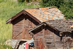 Sunny day in Zermatt royalty free stock images