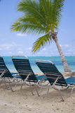 Sunny days. Bavaro beach at the dominican republic stock image