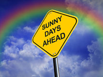 Sunny Days Ahead Road  Sign Royalty Free Stock Image