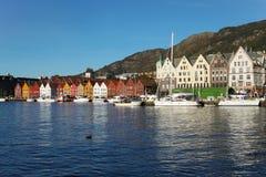 Sunny daytime in Bergen, Norway Stock Photo