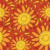Sunny decorative seamless pattern Stock Photography