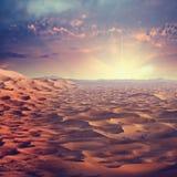 Sunny desert Stock Images