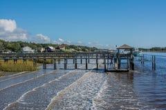 Sunny Docks royalty-vrije stock afbeelding