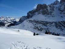 Sunny Dolomites royalty free stock images