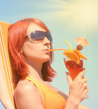 Sunny drink Stock Image