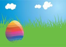 Sunny easter egg Stock Photography