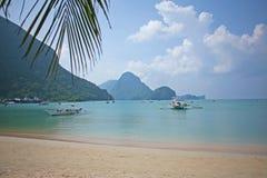 Sunny El Nido Beach on Palawan Royalty Free Stock Image