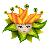 Sunny elf boy. Funny illustration with a sunny elf boy Royalty Free Stock Image