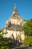 Sunny evening by the ancient Buddhist temple Gawdaw-palin. Bagan, Myanmar Stock Photos