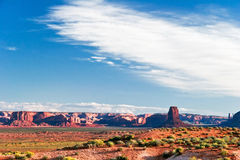 Sunny evening in Monument Valley. Arizona. Royalty Free Stock Photos