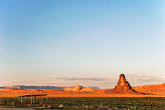Sunny evening in Monument Valley. Arizona. Stock Images