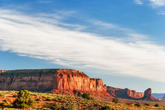 Sunny evening in Monument Valley. Arizona. Royalty Free Stock Image