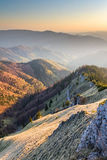 Sunny evening over mountains valley Royalty Free Stock Photo