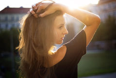 Sunny evening portrait Royalty Free Stock Image