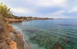 Sunny evening with a soft sunset glow at Iguana beach on Crete island, Greece stock photos