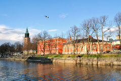 Sunny evening in Turku, Finland Stock Photo
