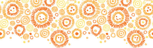 Sunny faces horizontal seamless pattern background Royalty Free Stock Photo