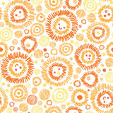 Sunny faces seamless pattern background Royalty Free Stock Images